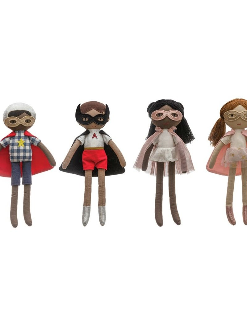 Cotton Superhero Girl Doll, 2 Styles