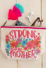 Natural Life Strong Mother Canvas Pouch