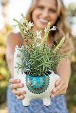 Natural Life Llama Planter