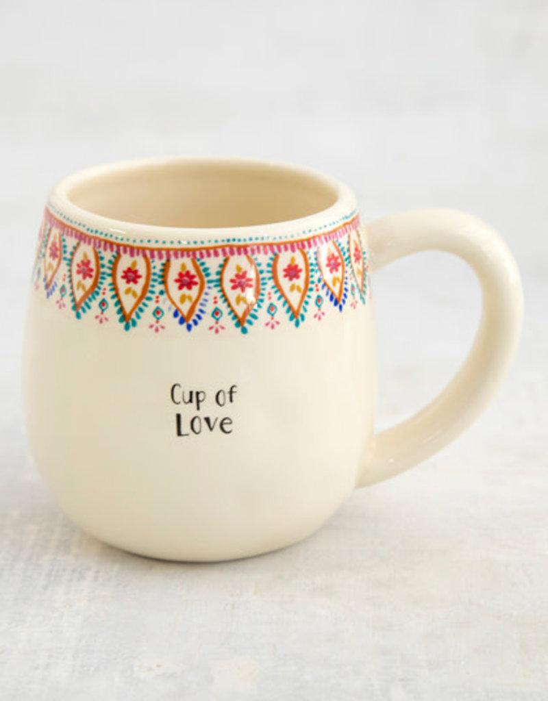 Natural Life Cup of Mug Love Borders
