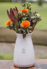 Natural Life Thankful Grateful Vase