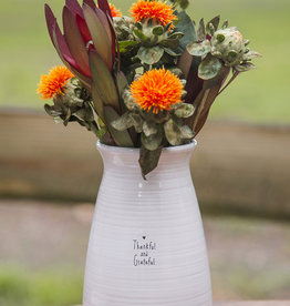 Thankful Grateful Vase