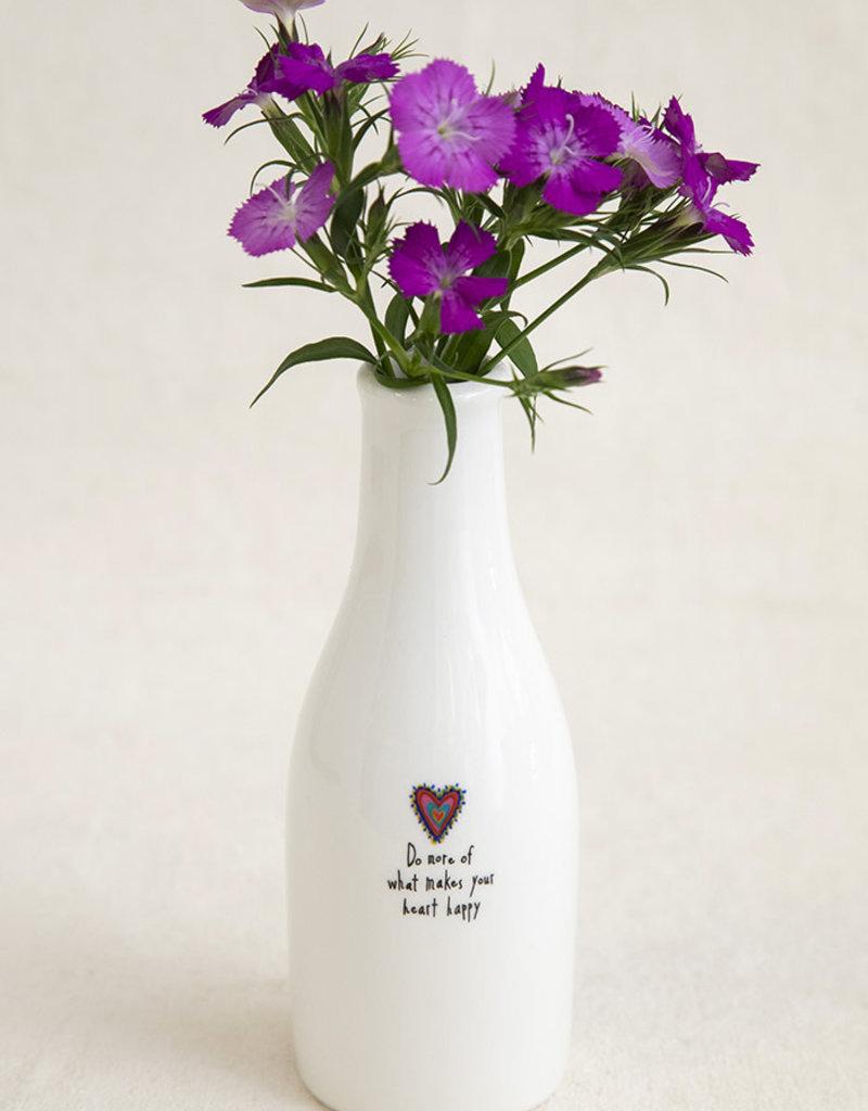 Natural Life Heart Happy Bud Vase