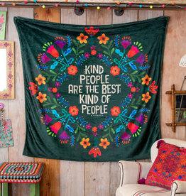 Natural Life Kind People Tapestry Blanket