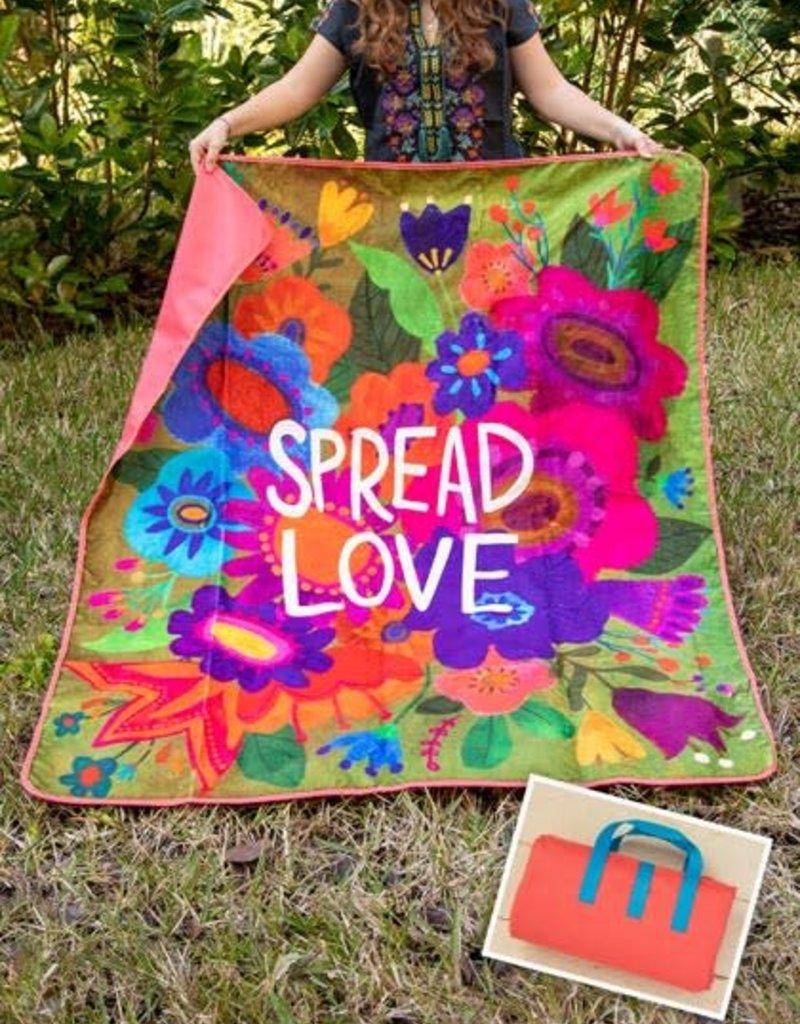 Natural Life Picnic Blanket Spread Love