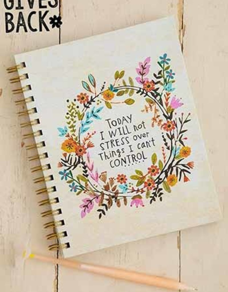 Natural Life Spiral Notebook Will Not Stress