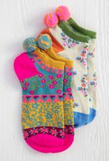 Magenta Ankle Sock Set