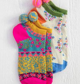 Natural Life Magenta Ankle Sock Set