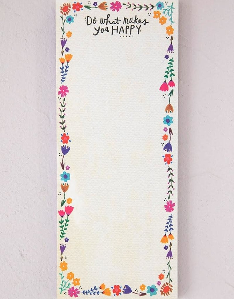 Natural Life Makes You Happy List Notepad