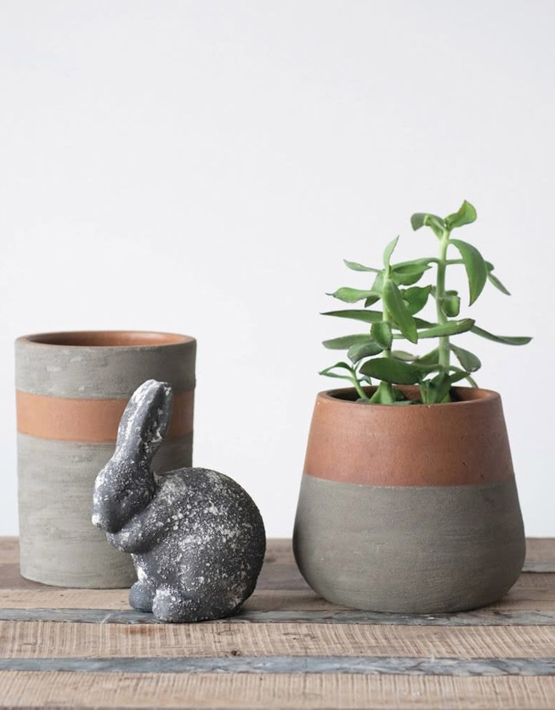 Two Tone Terracota and Cement Planter