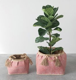 Coral Seagrass Basket Small