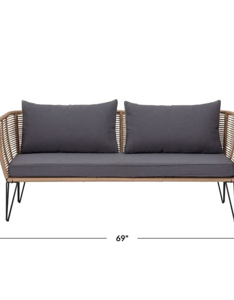 Metal & Woven Nylon Rope Sofa