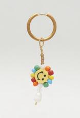 DLOB Be Mine Happy Face Rainbow Bead