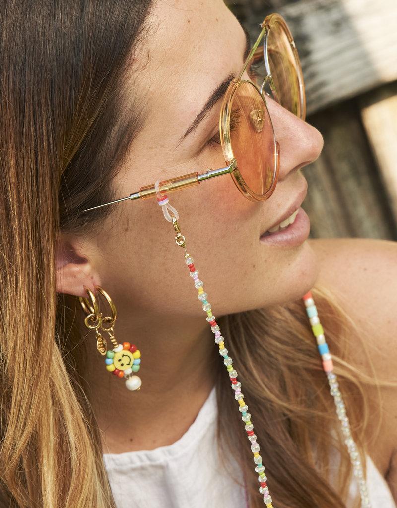Be Mine Happy Face Rainbow Bead