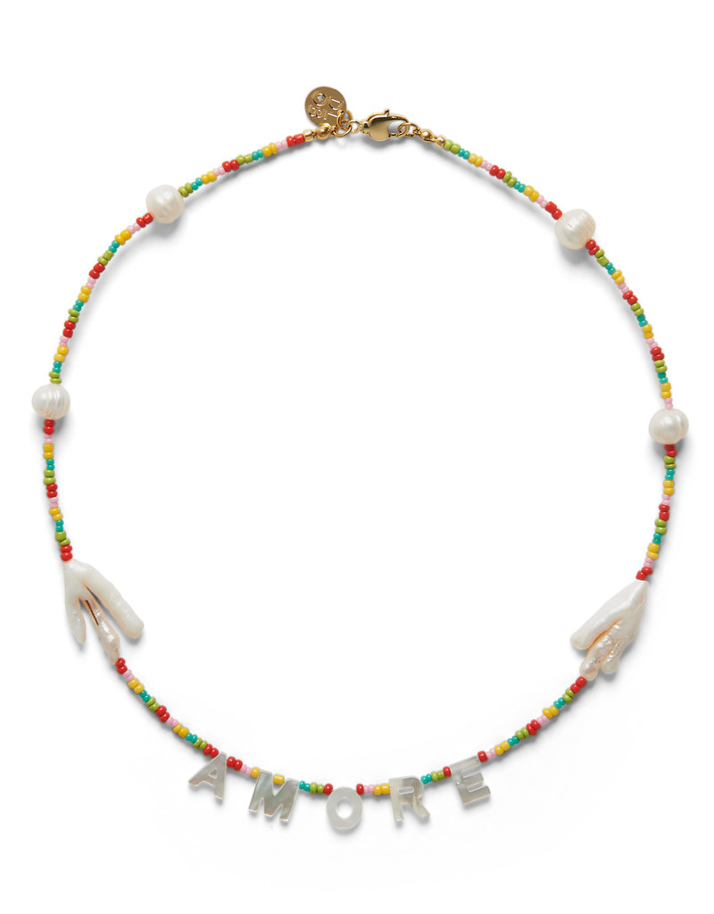 DLOB Amore Rainbow and Pearls Necklace