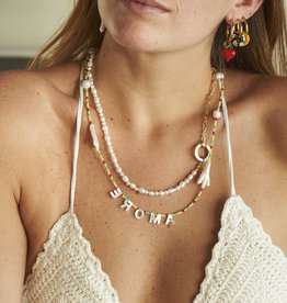 Amore Rainbow and Pearls Necklace