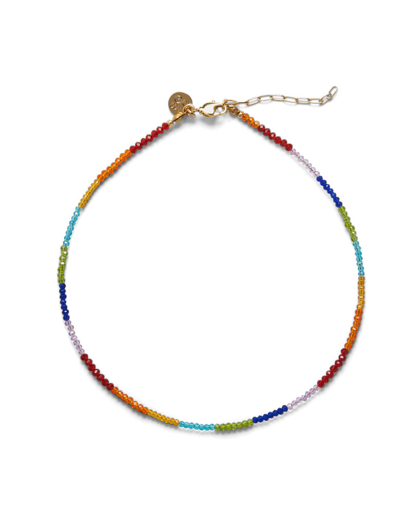 DLOB Fifth Ave Rainbow Bright Stones Necklace