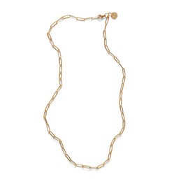 DLOB Hollywood St Gold Paperclip Necklace