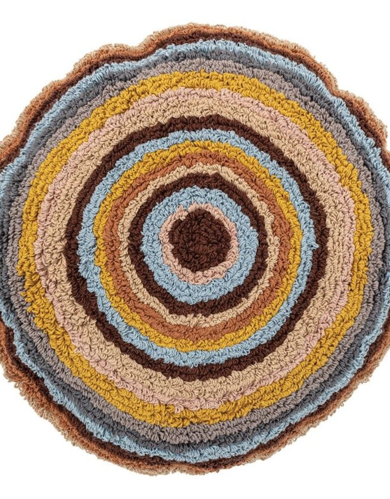 Round Cotton Tufted Pillow