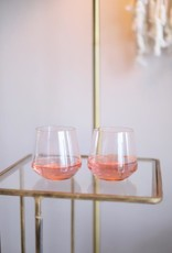 Drinking Glass Blush Color