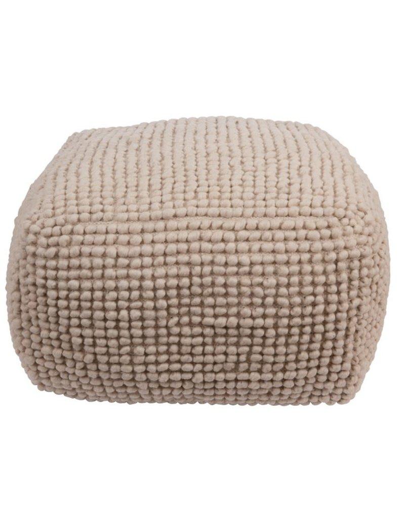 New Zealand Wool & Cotton Pouf