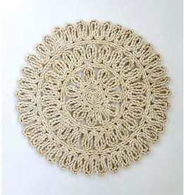 Round Woven Straw Placemat Natural