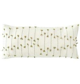 Hand-Woven Cotton Blend Lumbar Pillow