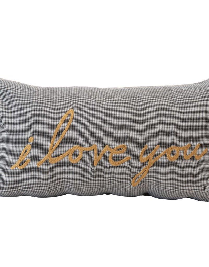 """Lumbar Pillow """"I Love You"""""""