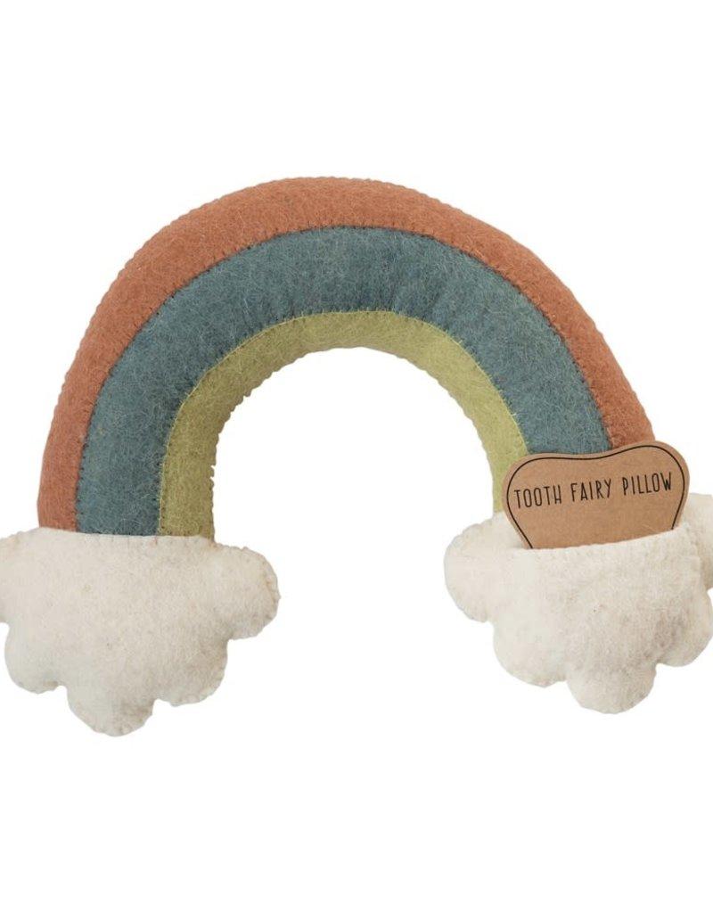 Wool Rainbow Tooth Fairy Pillow