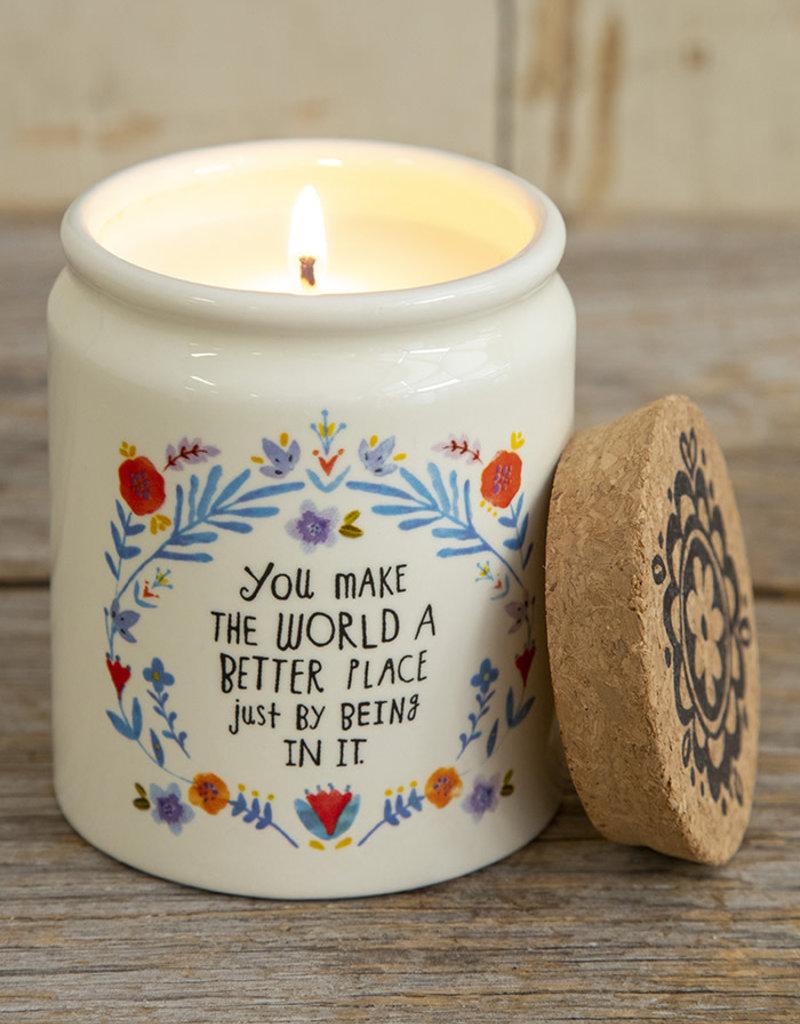 Ceramic Jar Candle World Better