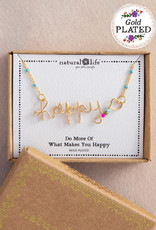 Happy Wire Necklace