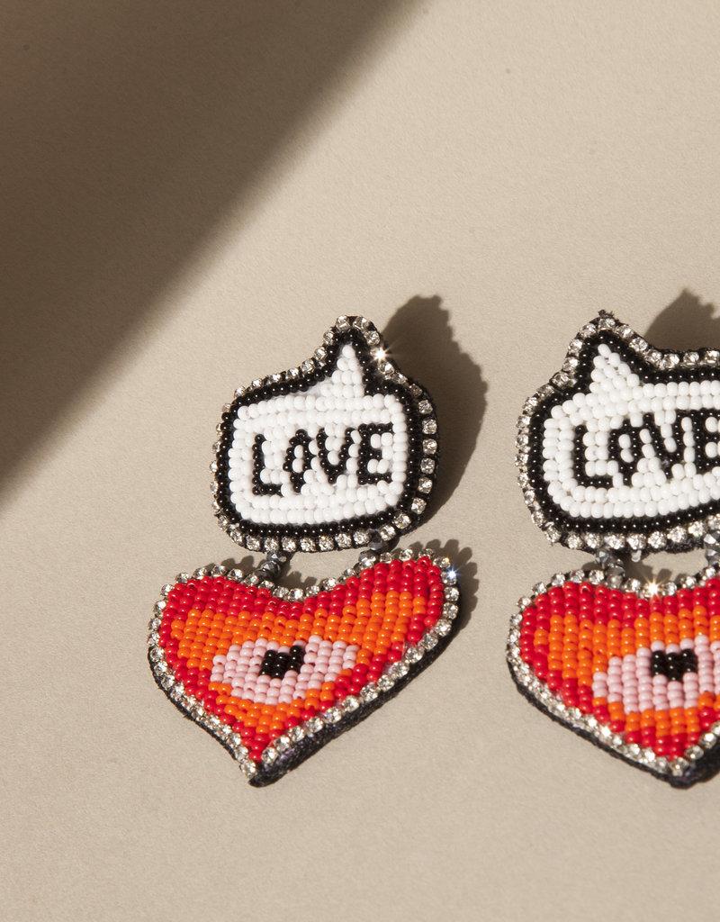 Erika Valencia Earrings Love Declaration