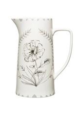 Stoneware Pitcher Floral