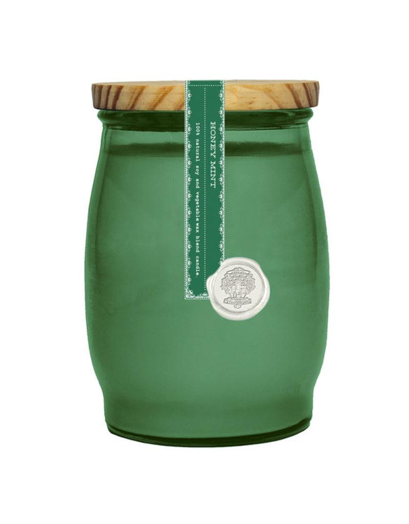 Barrel Glass Candle - Honey Mint