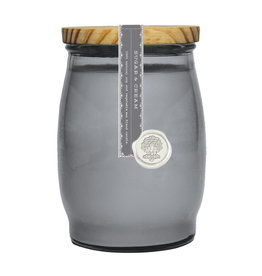 Barrel Glass Candle- Sugar and Cream