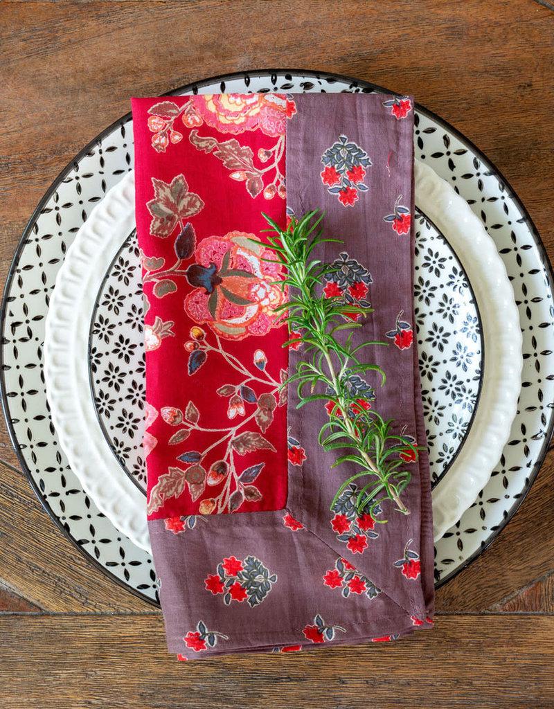 Cotton Voile Napkin Red