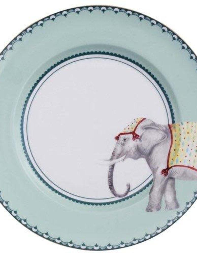 Yvonne Ellen Set 4 dinner plates Carnival Animals