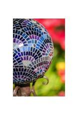 """10"""" Gazing Ball, Purple Mosaic"""
