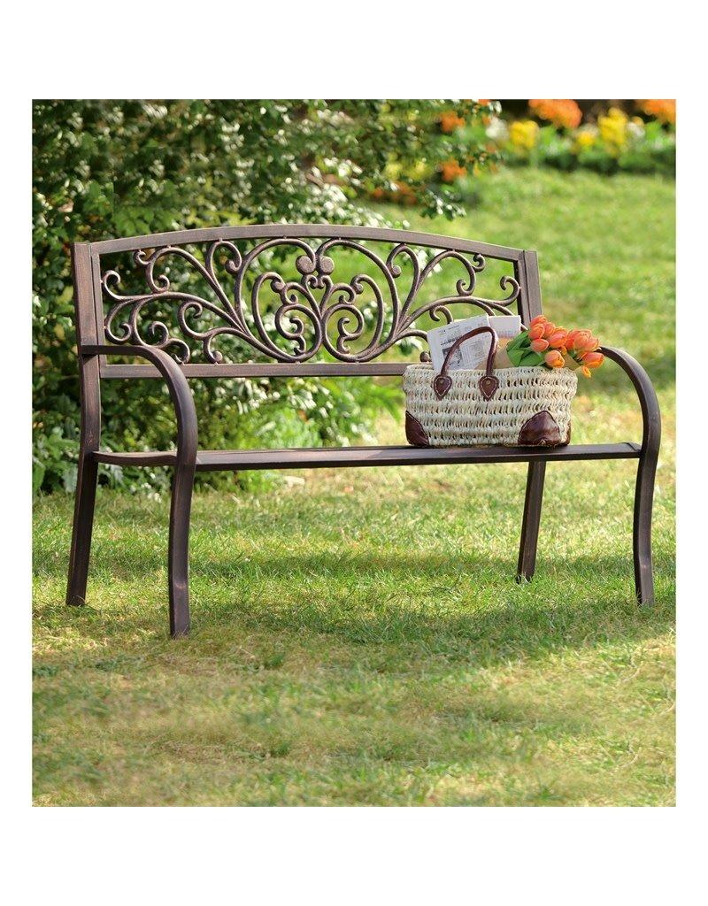 Blooming Garden Bench