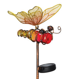 Mini Solar Butterfly Stake - Orange