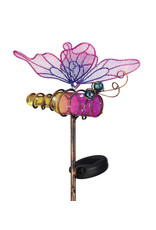 Mini Solar Butterfly Stake - Pink