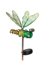 Mini Solar Dragonfly Stake - Green