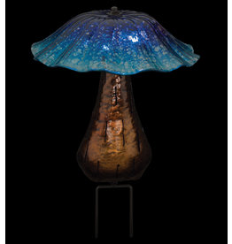 Solar Toadstool Stake - Blue