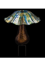 Solar Toadstool Stake - Blue/Yellow