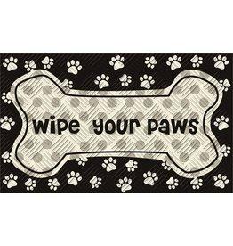 Wipe Your Paws Embossed Floor Mat