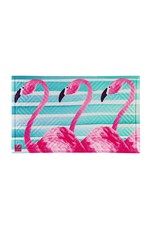 Flamingo Stripes Embossed Mat