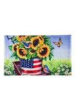 Patriotic Sunflower Wagon Embossed Floor Mat