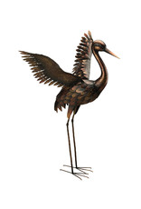 "Bronze Crane 44"" - Wings Up"