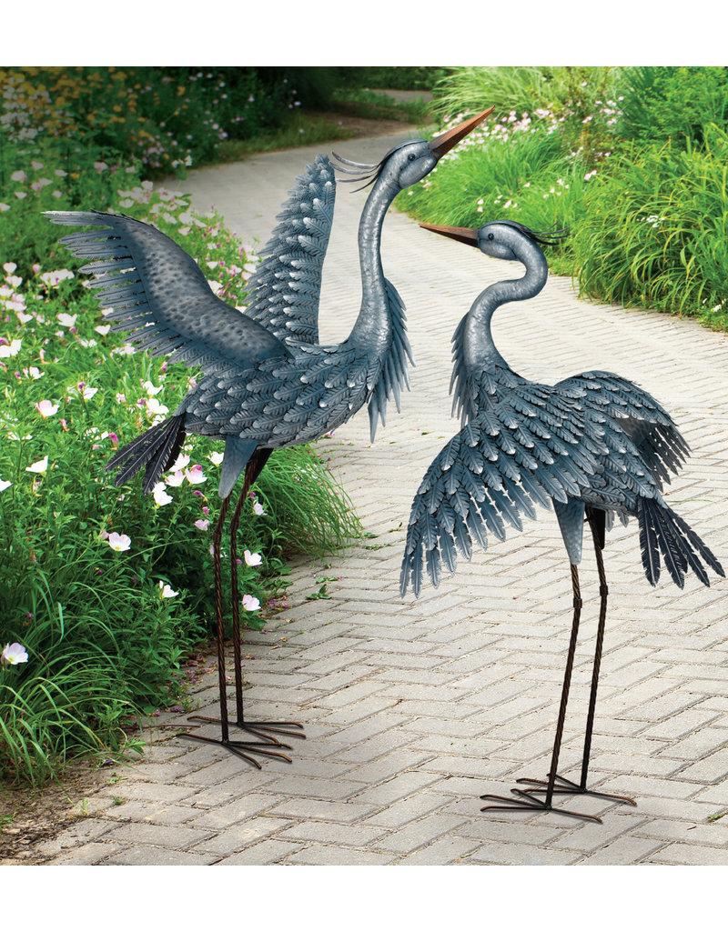 Metallic Blue Heron - Wings Up