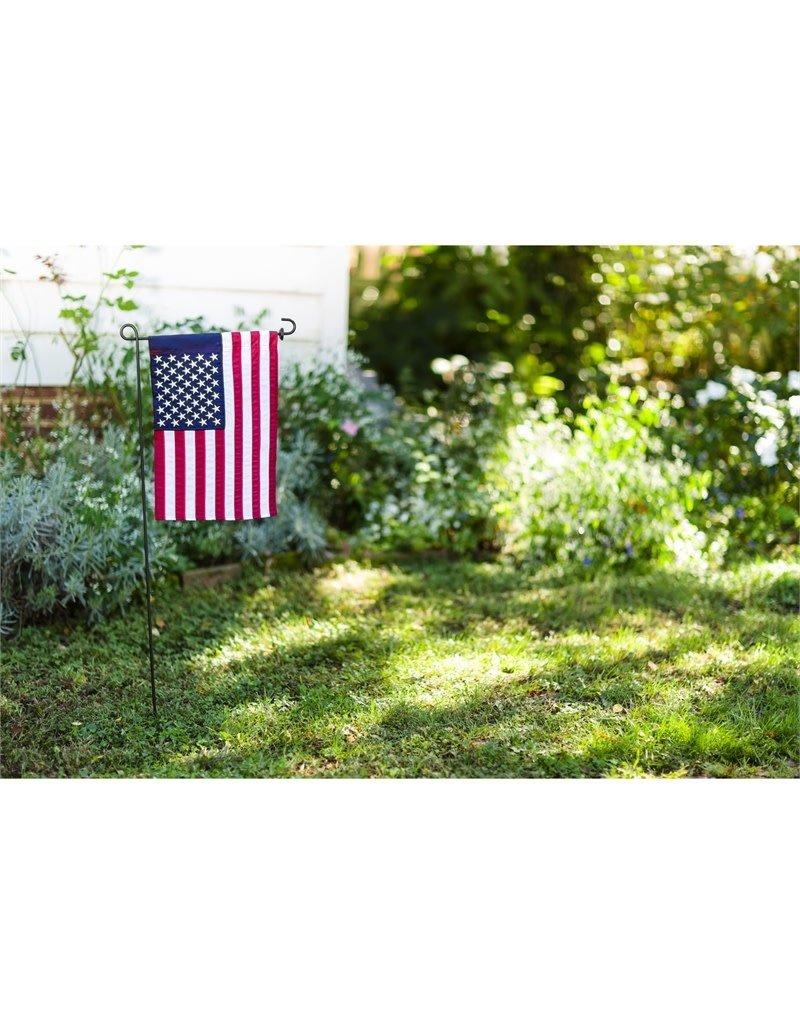 American Flag Garden Applique Flag